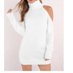 Tobi Give Love White Sweater Dress